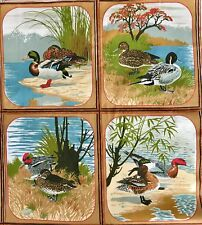 Ducks & Mates Fabric Panels Riverdale Screen Prints Cotton Upholstery 1976