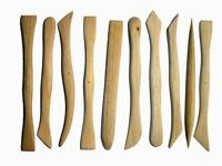 Wooden Clay,Plasticine Modelling tools x 10  Ideal for cutting and forming