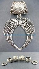 angel wing heart pendant slider scarf ring discount fashion jewelry