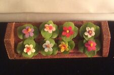 New listing Miniature Doll House Window Box Wooden Flower Planter All Made By Hand Box Flora