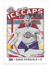 2015-16 St. John's IceCaps (AHL) Update set Eddie Pasquale (goalie)