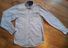 Men's Designer JACK & JONES Blue Striped Shirt Size M 41 Inch Chest * L@@K * Vgc
