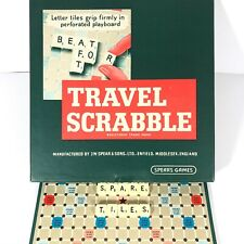 TRAVEL SCRABBLE Small Spare Replacement Tiles Pieces Peg Board Type 12x12mm