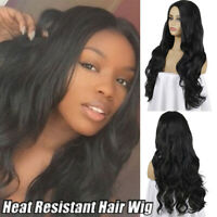 Hair Synthetic Wigs Black Long Curly Wavy Hair Cosplay Ombre Wig S