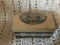 Antique Whitman's Prestige Chocolates Tin Rounded top