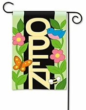 """OPEN FLAG Magnet Works 12"""" x 18"""" Garden Size Colorful NIP"""