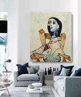Pablo Picasso Oil Painting Seated Woman Hand-Painted Canvas Unframed 40x48