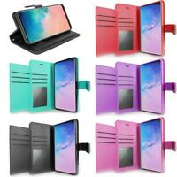 For Samsung Galaxy A11 Case, Premium Leather Wallet + Tempered Glass Protector