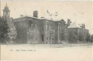 """LORAIN OHIO AUGUST 7th 1905 """"THE HIGH SCHOOL""""--ROTOGRAPH--SENT TO--CLYDE OHIO~~~"""