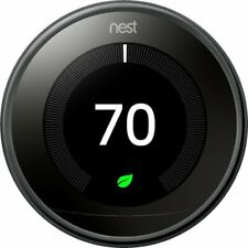 Google - Nest Learning Thermostat - 3rd Generation - Mirror Black  T3018US