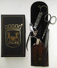 Zinger 5 in1 Pedicure Manicure Set Kit Nail Scissors Nipper Tweezer Leather case