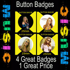 "ANASTACIA - 4 GREAT BUTTON BADGES - 25mm -1""  CD4098"