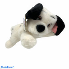 "NWT DISNEY STORE Floppy Jewel 101 Dalmatians Puppy Dog 12"" Plush White Black"