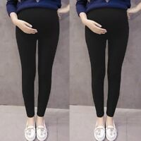 Women Mom Pregnancy Long Pants Solid Thin Adjustable Maternity Trousers Leggings