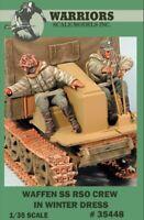 Warriors 1:35 Waffen SS RSO Crew Winter Dress 2 Resin Figures Kit #35448