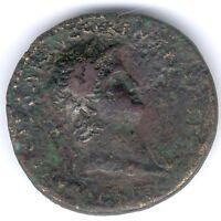Römisches Kaiserreich Nero 54-68 n.Chr. Sesterz -Büste n. rechts, RIC 274, RARE
