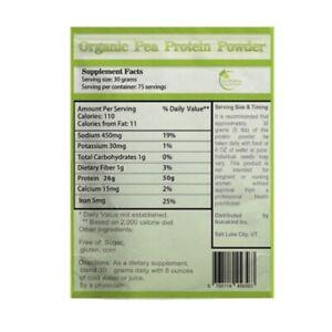 Fresh 5 LBS Organic Pure Pea Protein Powder. Non-GMO, Vegan, FREE SHIPPING!