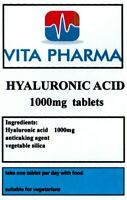 HIGH STRENGTH HYALURONIC ACID 1000mg 365 tablets SKIN REJUVINATOR COLLAGEN