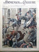 La Domenica del Corriere 14 Febbraio 1904 Aalesund Bari Ferrovia Russia Giappone