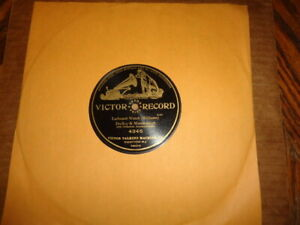 Rare 1904 VICTOR Grand Prize 1-Sided 78/Dudley&Macdonough-Duet w.Orch.