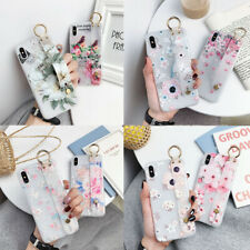 For Apple iPhone Hot Frosted Flower Bracket Fashion Women Soft Phone Case Cover