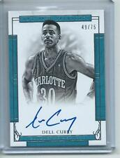 2016-17 National Treasures BKB SIGNATURES #19 Dell Curry Charlotte Hornets #/75!