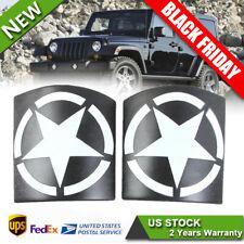 2X Cowl Body Armor Cover Sport Exterior Accessories For Jeep Wrangler JK JKU 17+