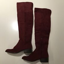 6bd4050bec2 EUC CHARLOTTE RUSSE PANDORA MARSALA (burgundy red) Over The Knee Boots Size  7M