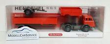 Wiking Sondermodell 1/87: 850201 Henschel HS 165 T Baustoffwagen, orangerot/grau