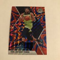 Karl Anthony Towns Blue Reactive Mosaic Prizm 2019-20 Panini Timberwolves 83