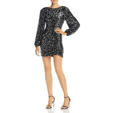 Saylor Womens Sequined Party Mini Cocktail Dress BHFO 8972