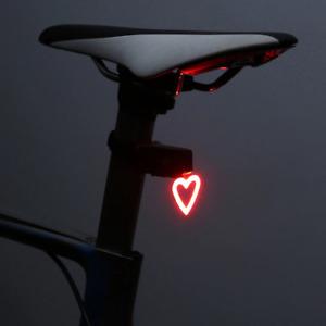 Zacro Multi Lighting Modes Bicycle Light USB Charge Led Bike Flash Rear Heart