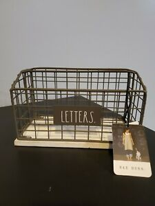 Rae Dunn by Design Styles LETTERS Metal and Wood Mail Holder Organizer HTF Gray
