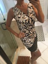Kimikal Cocktail Dress Studded Nwt New Jersey Feel Animal Print