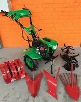 Two wheels tractor Cultivator tiller 900C 7.5HP 5.5kW with wheels + ploughs NEW