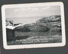 Playing Swap Cards 1 WIDE VINT  ENG  HOLYHEAD GOLF LINKS 4TH TEE  U.K. GOLF EW52