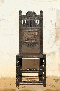 "Rare 17th Century Chair with the Motto: ""Crescit Sub Pondere Virtus"", English"