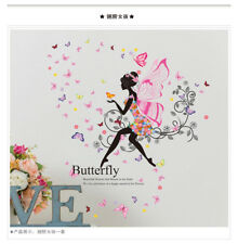 Family Wall Sticker Removable PVC Flower Fairy Girls Wall Decals Art Stickers