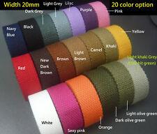 20mm Spun Polyester Webbing -DIY Canvas Cotton Bag/Purse Handle/Strap/Belt Craft