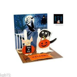 Dogs in Costume Pop Up Greeting Card Up With Paper Treasures PS-766 Halloween