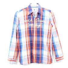 GAASTRA Hemd Jungen Kids Kariert Blau Orange Weiß Gr. 164