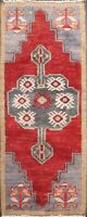 Geometric Authentic Oushak Turkish Area Rug Hand-knotted Traditional Carpet 2x4
