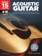 First 15 Lessons Acoustic Guitar A Beginner's Guide with Audio Video 000244588