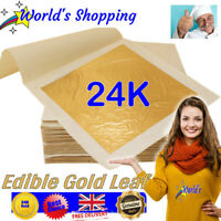 24K Gold Leaf - 10 Edible 24K Gold Leaf Food Size Packs