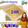 24K Gold Leaf - 10 Edible 24K Gold Leaf Food Size Packs