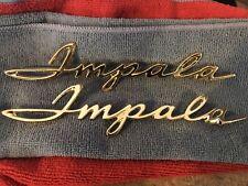 1962 62 Impala 24k Gold Plated Rear Quarter Panel Emblem Scripts