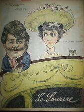 LE SOURIRE N° 139 JOURNAL CARICATURE LAVALLIERE DESSINS BRAUN HUARD LOURDEY 1902
