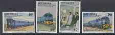 Ferrocarriles: Botswana 1992 Deluxe Ferrocarril Service Set SG733-6 Estampillada sin montar