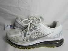 b4f9cf064581 Women s Nike Air Max+ 2013 White Silver Running Shoes 555363 100 Size 8