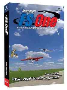 FS One R/C Flight Simulator V2 with JR/Spektrum Transmitter Adapter Cable NEW